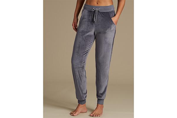 pantaloni jogger catifea Marks&Spencer