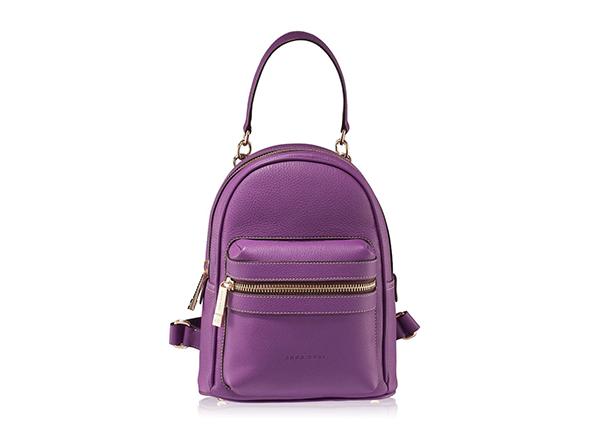 Rucsac din piele violet Anna Cori