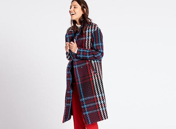 palton cadrilat Marks&Spencer