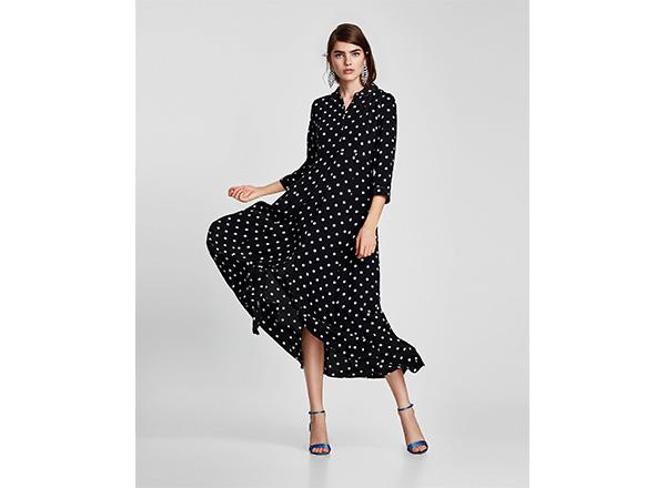 rochie cu buline Zara