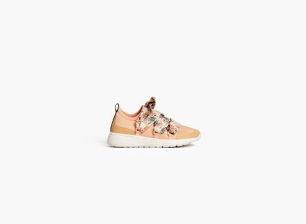 Pantofi sport cu sireturi cu imprimeu floral