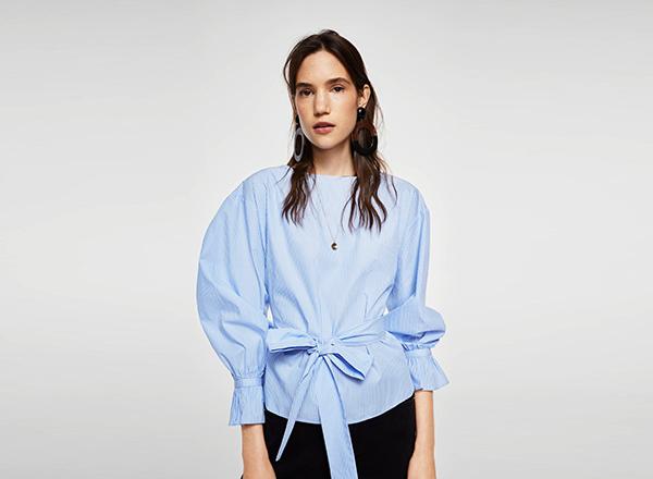 bluza bleu Mango