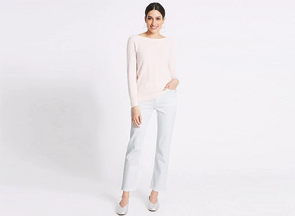 jeansi albi M&S