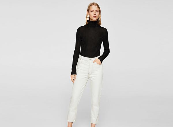 jeansi albi Mango