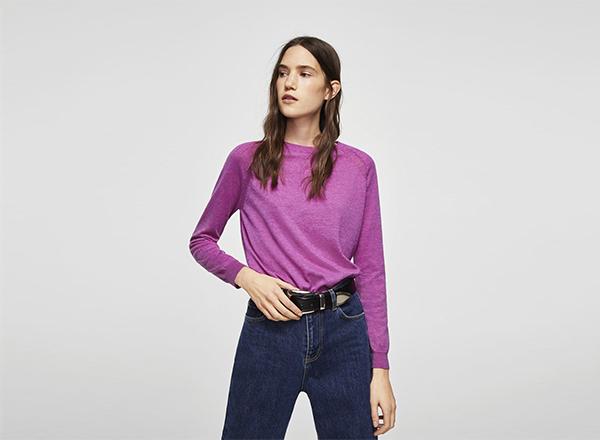 pulover roz Mango
