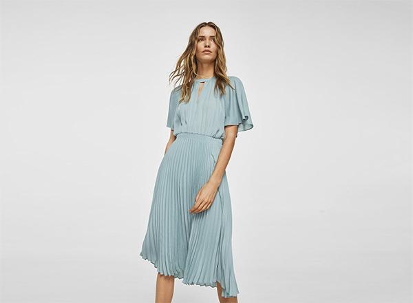 rochie bleu Mango