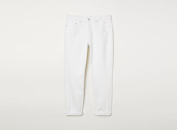 jeansi albi HM