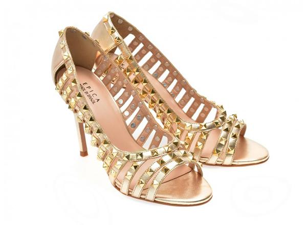 pantofi Epica aurii Tezyo