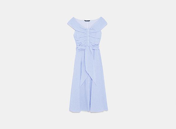 rochie bleu brunch Zara