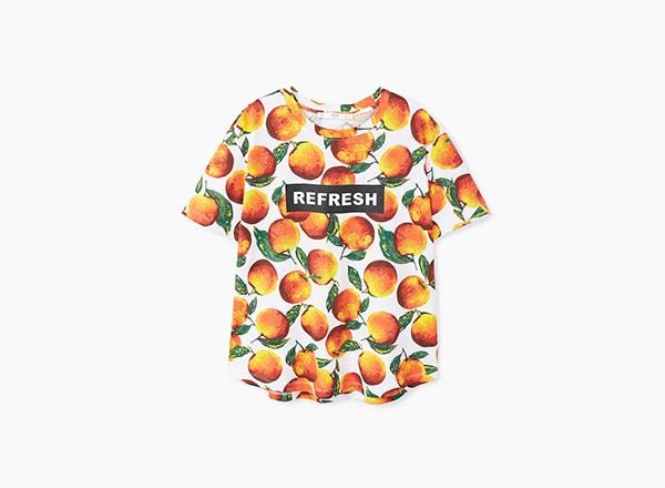 tricou cu fructe Mango