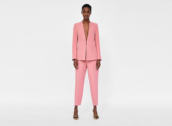 costum roz Zara