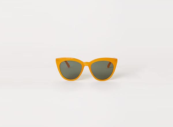 ochelari de soare cu rama galbena H&M