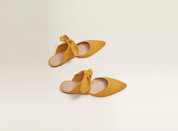 papuci galbeni Mango