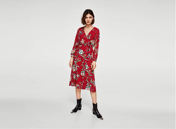 rochie cu print floral Mango 2