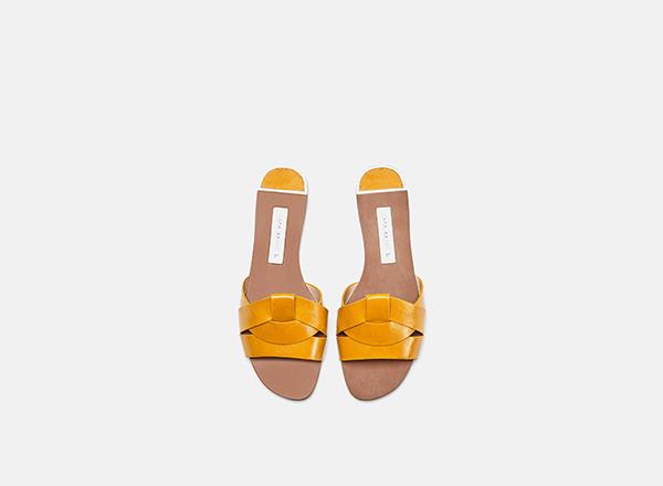 sandale galbene Zara
