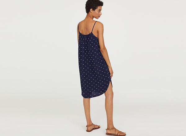 rochie bleumarin cu buline HM