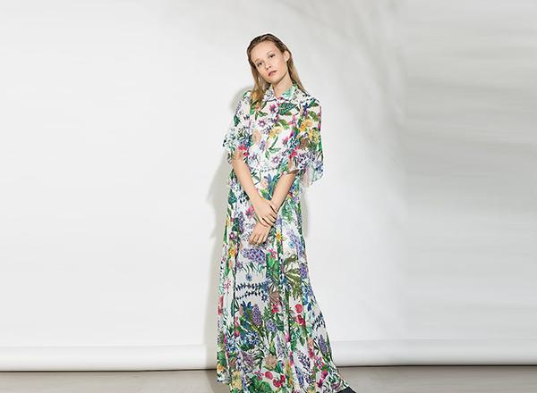rochie camasa maxi cu flori BSB