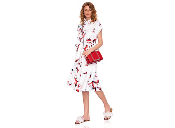 rochie cu cordon si print floral NIssa