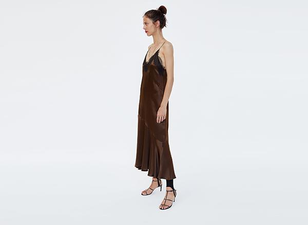 rochie furou maro Zara