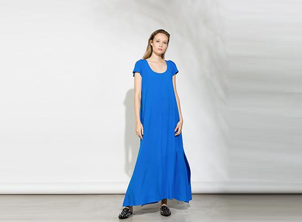 rochie larga albastra BSB