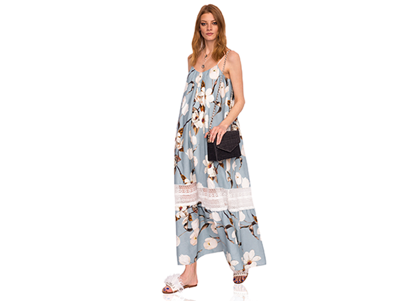 rochie larga cu flori Nissa
