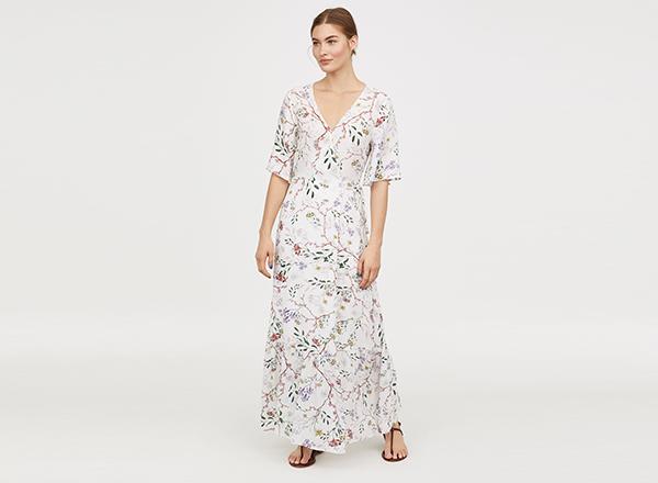 rochie maxi cu flori HM