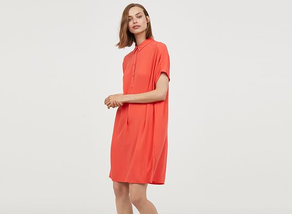 rochie portocalie HM