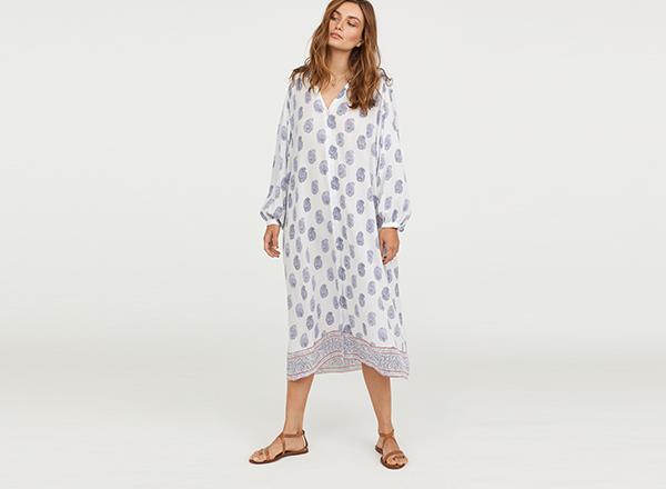 rochie tuica cu print paisley HM