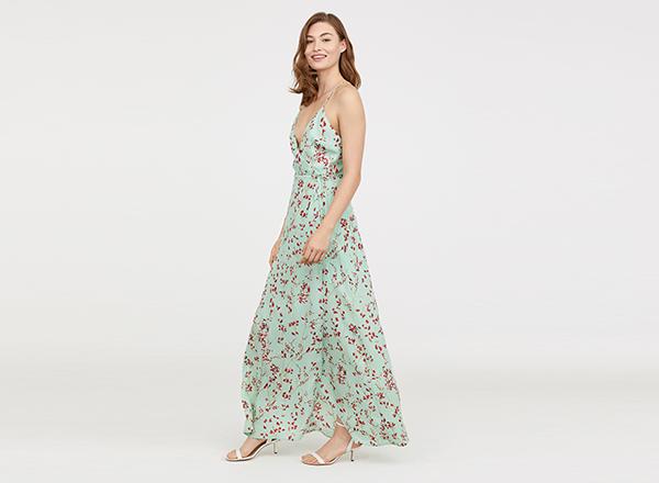 rochie vernil cu bretele fine HM