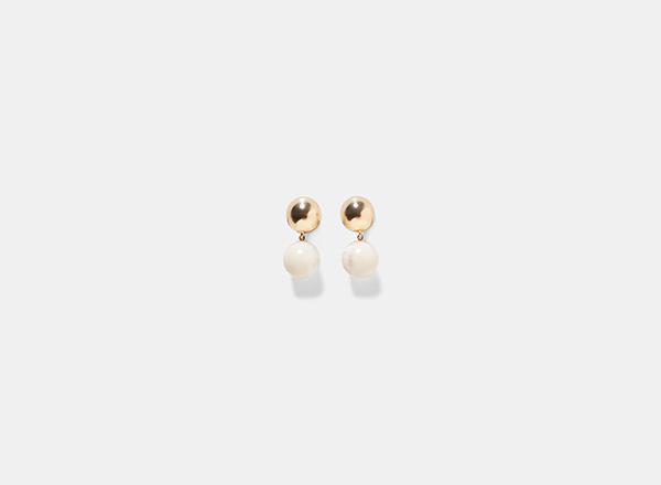 cercei zara cu perle tinuta 1