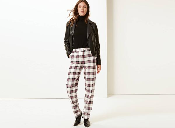 pantaloni in carouri MS