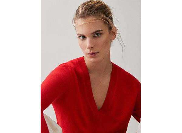 pulover rosu casmir Massimo Dutti