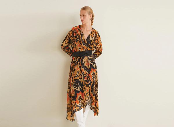 rochie cu print exotic mango