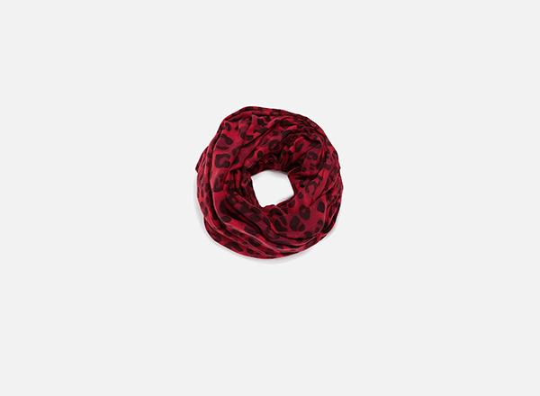 esarfa animal print rosu Zara
