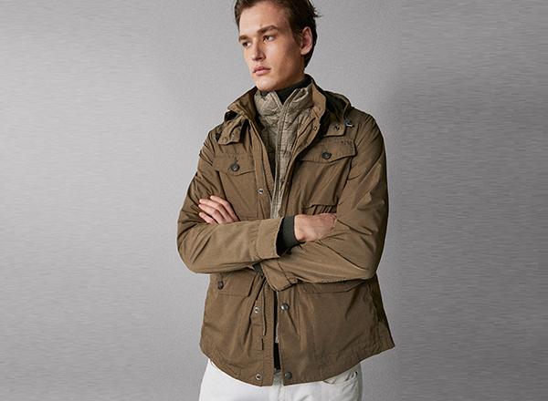 jacheta cu vesta detasabila Massimo Dutti