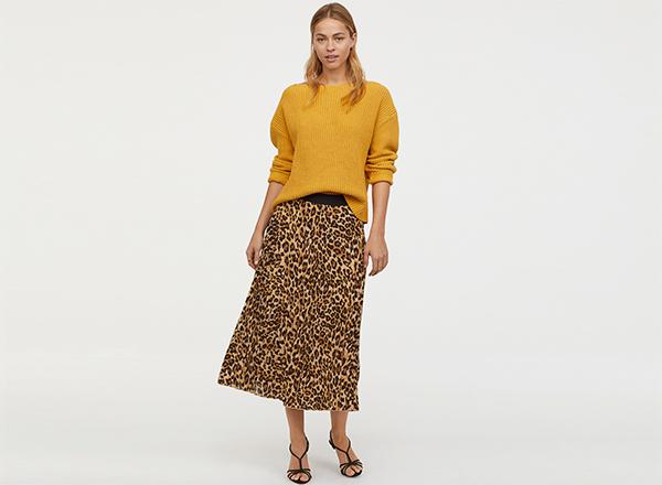 fusta leopard print H&M