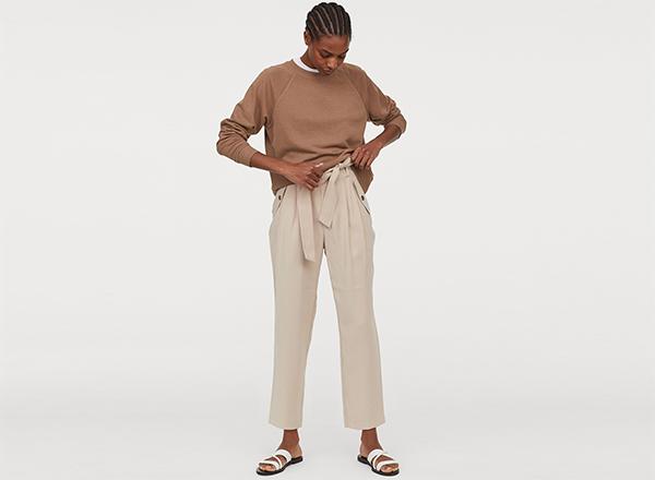 pantaloni cargo bej HM