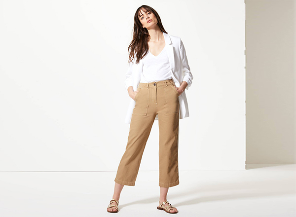 pantaloni cropped cargo MS