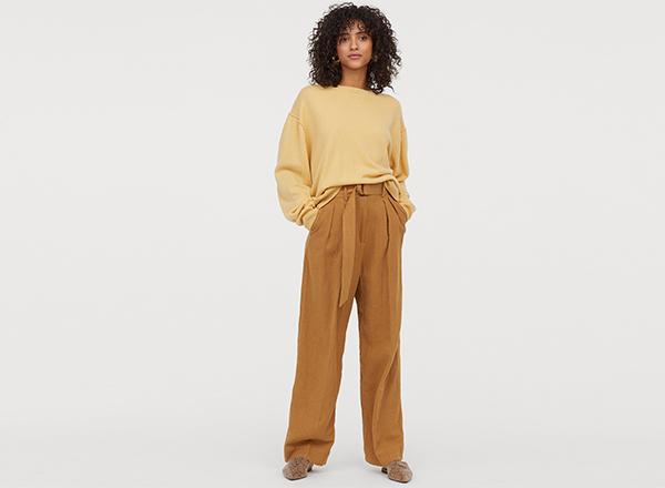 pantaloni largi HM
