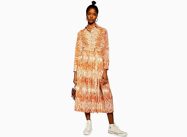 rochie cu print tigru Topshop