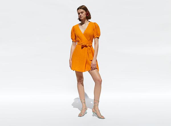 rochie portocalie zara