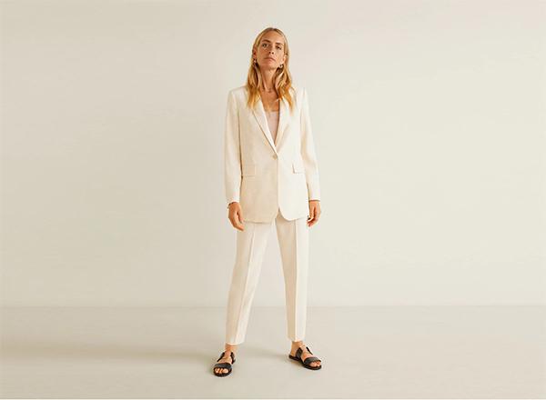 costum alb vanilie Mango