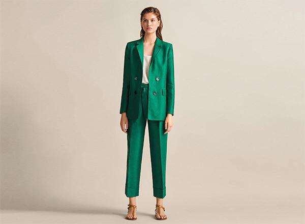 costum verde smarald Massimo Dutti