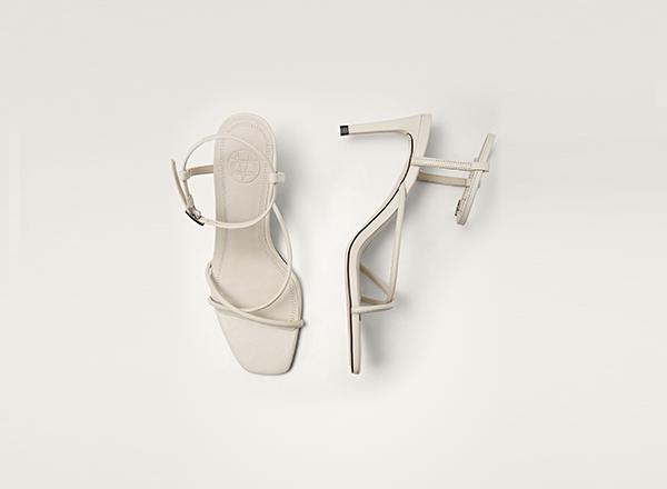 sandale albe Massimo Dutti