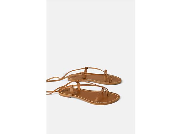 sandale gladiator bej Zara