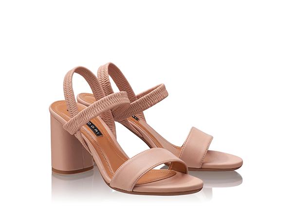 sandale minimaliste bej nud Anna Cori