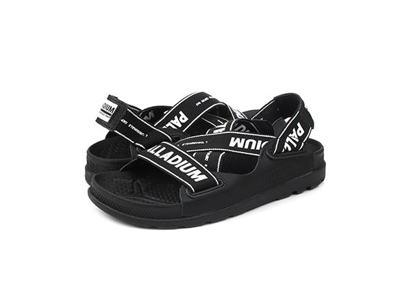sandale negre cu logo Office Shoes