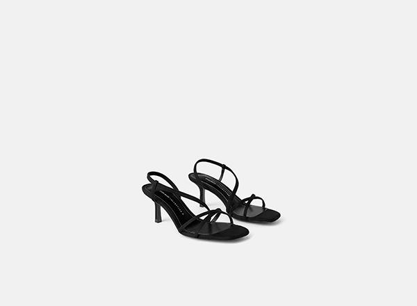 sandale negre minimaliste Zara