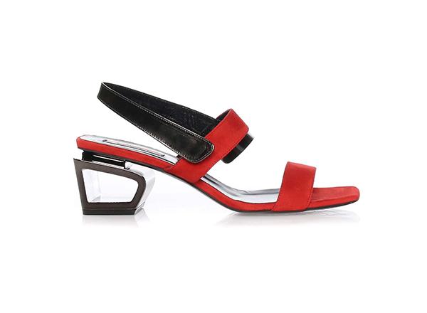 sandale rosii cu toc geo Il Passo