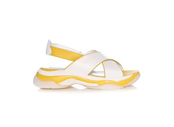 sandale sport cu talpa alb galben Il Passo